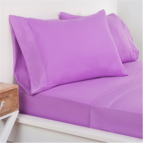 SIS Covers Crayola Queen Size Microfiber Sheet Set in Vivid Violet
