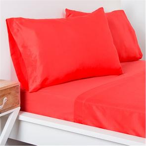 SIS Covers Crayola Twin Microfiber Sheet Set in Sunset Orange