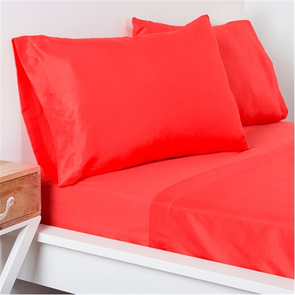 SIS Covers Crayola Twin Microfiber Sheet Set in Sunset Orange