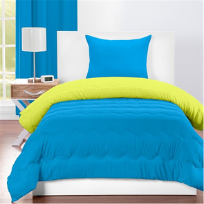 SIS Covers Crayola Twin Reversible Comforter Set in Cerulean and Granny Smith Apple