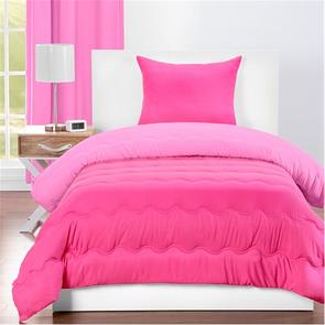 SIS Covers Crayola Twin Reversible Comforter Set in Pink Flamingo and Hot Magenta