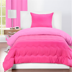SIS Covers Crayola Twin Reversible Comforter Set in Pink Flamingo and Hot Magenta
