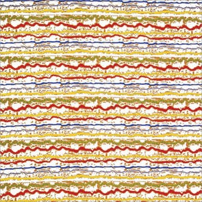 SIS Custom Fabrics Panel Curtains in Scribble Stripe