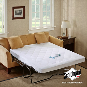 Sleep Philosophy Holden Full Waterproof Sofa Bed Pad with 3M Moisture Management in White by JLA Home