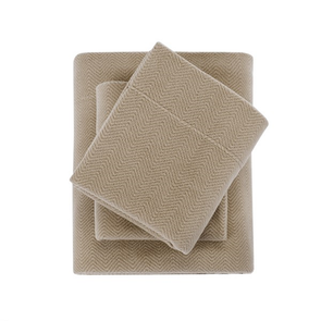 Sleep Philosophy Micro Fleece King Sheet Set in Khaki by JLA Home