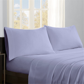 Sleep Philosophy Micro Fleece Queen Sheet Set in Lavender by JLA Home