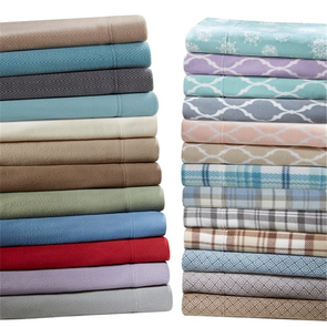 Sleep Philosophy Micro Fleece Queen Sheet Set in Tan Plaid by JLA Home