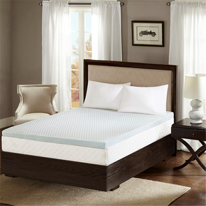 Sleep Philosophy Reversible 2 Inch Gel Memory Foam Queen Cooling Mattress Topper in White by JLA Home