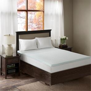 Sleep Philosophy Reversible 3 Inch Gel Memory Foam King Cooling Mattress Topper in White by JLA Home