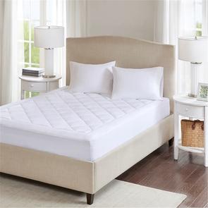 Sleep Philosophy Serenity Queen Waterproof 3M Scotchgard Moisture Treatment Mattress Protector Pad in White by JLA Home