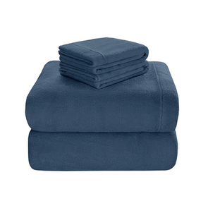 Sleep Philosophy Soloft Plush Full Sheet Set in Blue by JLA Home