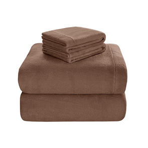 Sleep Philosophy Soloft Plush Full Sheet Set in Brown by JLA Home