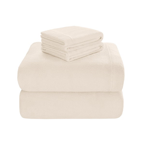 Sleep Philosophy Soloft Plush Full Sheet Set in Ivory by JLA Home