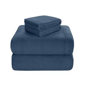 Sleep Philosophy Soloft Plush King Sheet Set in Blue by JLA Home