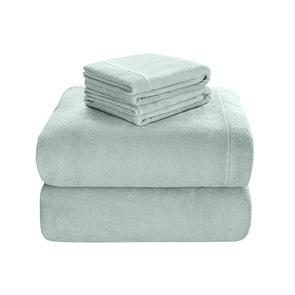 Sleep Philosophy Soloft Plush Queen Sheet Set in Aqua by JLA Home