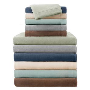 Sleep Philosophy Soloft Plush Queen Sheet Set in Grey by JLA Home