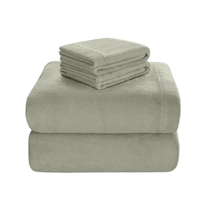 Sleep Philosophy Soloft Plush Twin Sheet Set in Green by JLA Home