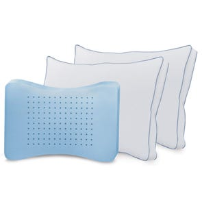 Soft-Tex Jumbo MemoryLOFT Deluxe Gusseted Pillow with Nanotex 2 Pack