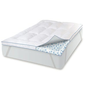 Soft-Tex MemoryLOFT Deluxe 3'' GEL-Infused Memory Foam and Fiber Bed Topper with Anchorbands