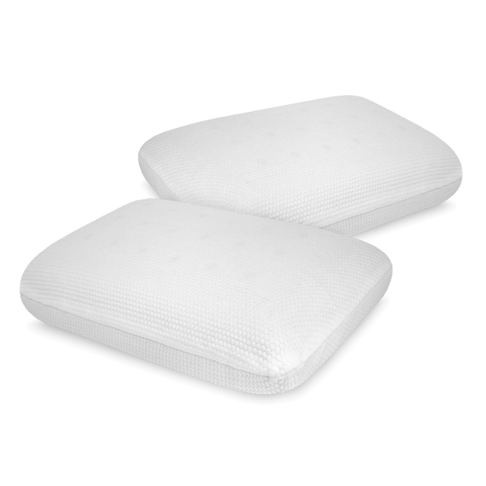 Sensorpedic Luxury Extraordinaire Gusseted Memory Foam Pillow with Ventilated Icool Technology King Size White