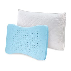 Soft-Tex Standard Size GEL MemoryLOFT Deluxe Quilted Pillow with Nanotex 2 Pack