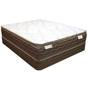 Full Spring Air Back Supporter Saint Thomas Plush Euro Top 15 Inch Mattress