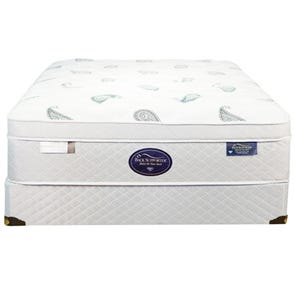 Full Spring Air Back Supporter Platinum Opal Euro Top Mattress