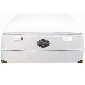 Queen Spring Air Back Supporter Four Seasons Premiere Plush Pillowtop 15.5 Inch Mattress