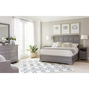 Stanley Transitional Cal King Panel Bed in Estonian Grey Finish