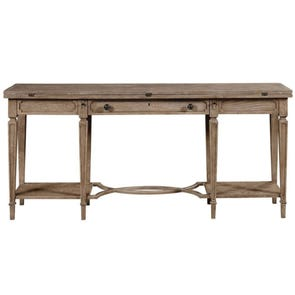 Stanley Wethersfield Estate Flip Top Table in Brimfield Oak Finish