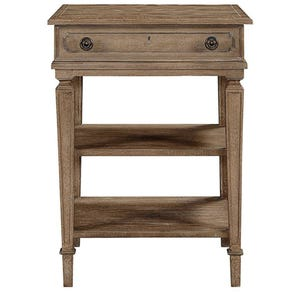 Stanley Wethersfield Estate Telephone Table in Brimfield Oak Finish