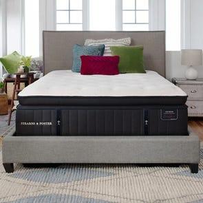 Queen Stearns and Foster Lux Estate Cassatt Luxury Firm Euro Pillow Top 15 Inch Mattress + FREE $100 Gift Card