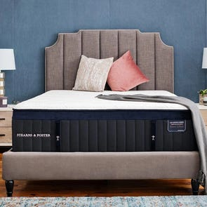 Queen Stearns and Foster Lux Estate Hybrid Pollock Luxury Cushion Firm 15 Inch Mattress + FREE $100 Gift Card