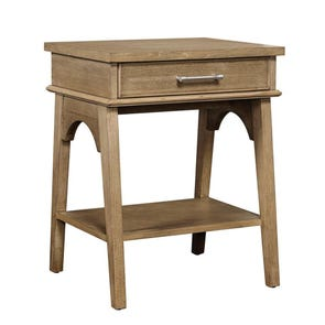 Stone & Leigh Chelsea Square Bedside Table in French Toast