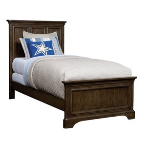 Stone & Leigh Chelsea Square Twin Panel Bed in Raisin