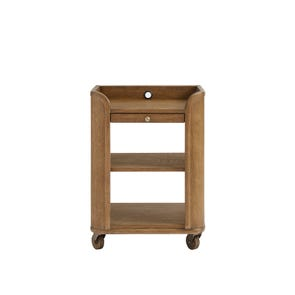 Stone & Leigh Driftwood Park Bedside Storage Table in Sunflower Seed