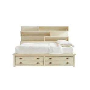 Stone & Leigh Driftwood Park Full Storage Bed in Vanilla Oak