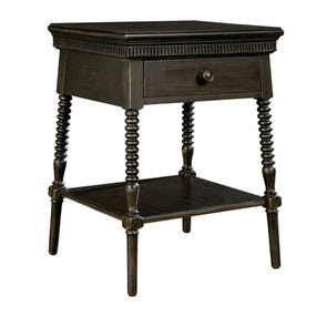 Stone & Leigh Smiling Hill Bedside Table in Licorice