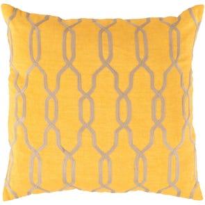 Surya Glamorous Geometric in Sunflower Accent Pillow