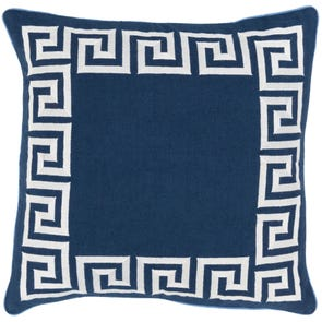 Surya Keeper of the Keys in Navy Accent Pillow