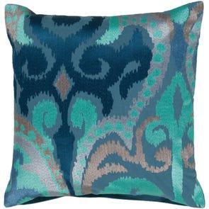Surya Radiant Swirl in Cobalt Accent Pillow