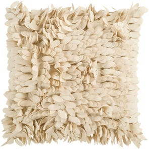 Surya Ruffle and Frill in Beige Accent Pillow