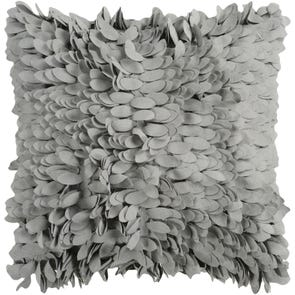 Surya Ruffle and Frill in Gray Accent Pillow
