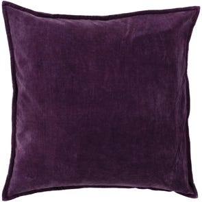 Surya Smooth Velvet in Eggplant Accent Pillow
