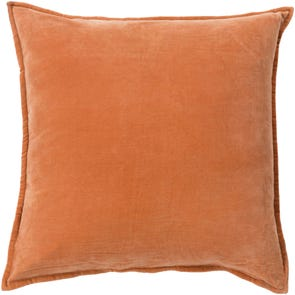 Surya Smooth Velvet in Rust Accent Pillow