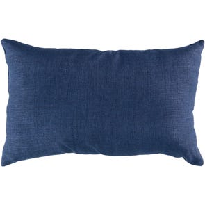 Surya Stunning Solid  Cover in Navy Accent Pillow