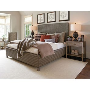 Tommy Bahama Cypress Point Driftwood Isle Woven Platform Cal King Headboard Only