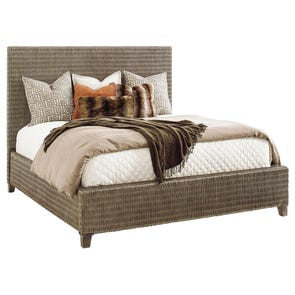 Tommy Bahama Cypress Point Driftwood Isle Woven Platform Queen Bed