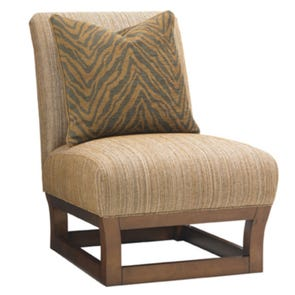 Tommy Bahama Island Fusion Chair with Throw Pillow
