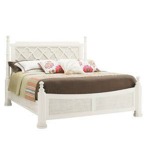 Tommy Bahama Ivory Key Southampton King Size Poster Bed